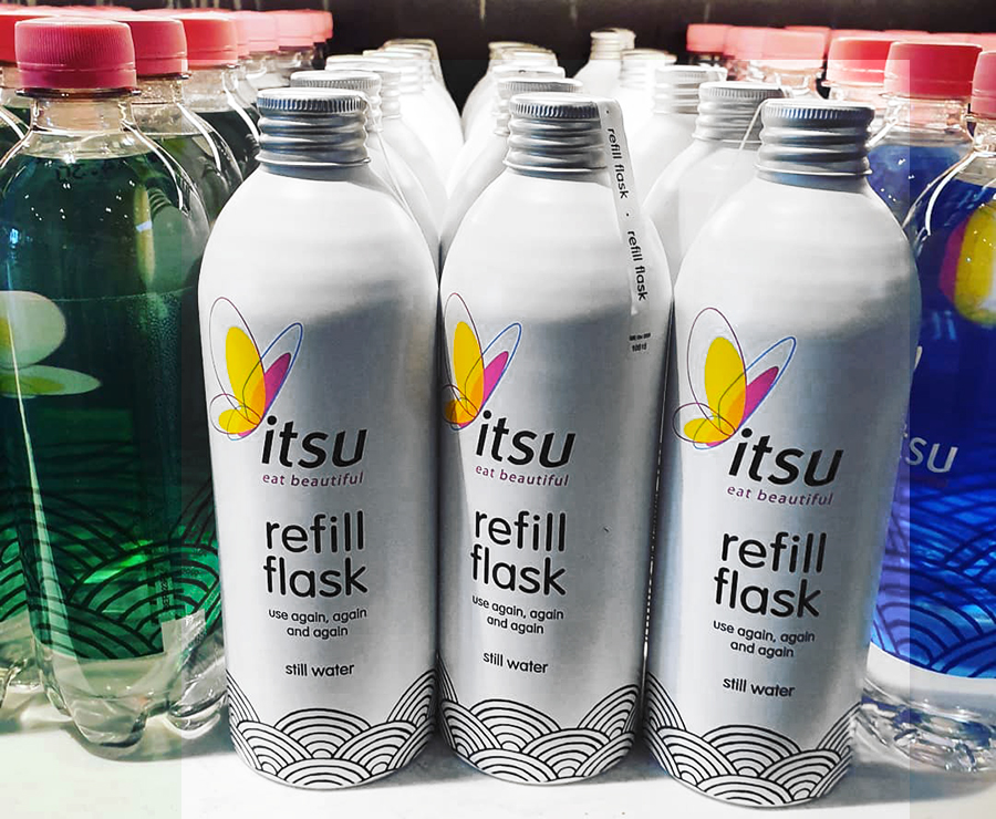 Refill Aluminium Flask and Bottle - 100% recyclable metal packaging