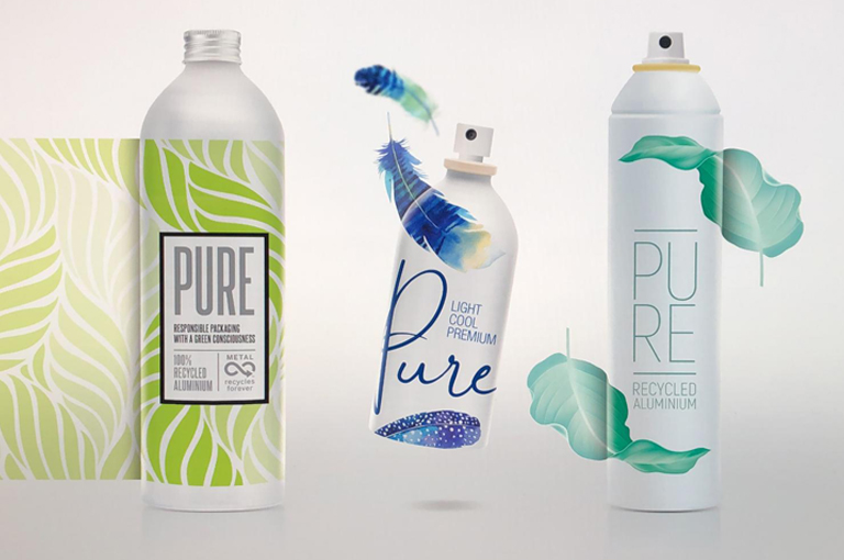 Made of 100% Recycled Aluminium Packaging - Aerosol Cans and Bottles