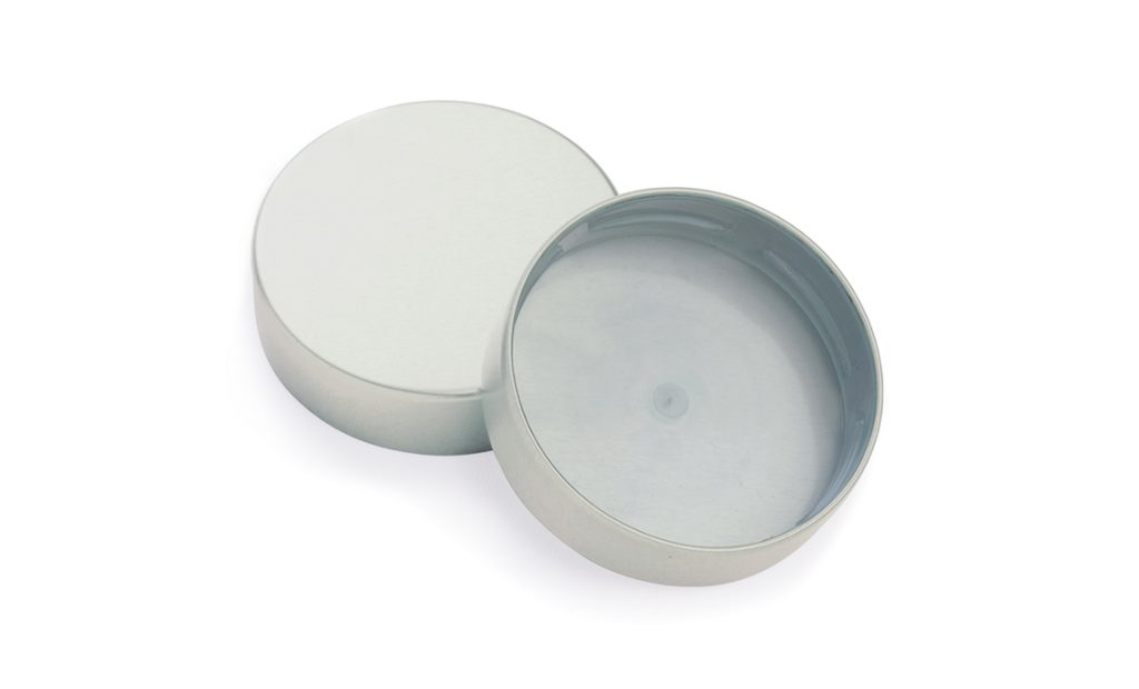 Cosmetic packaging - metal closures for glass jars and plastic containers