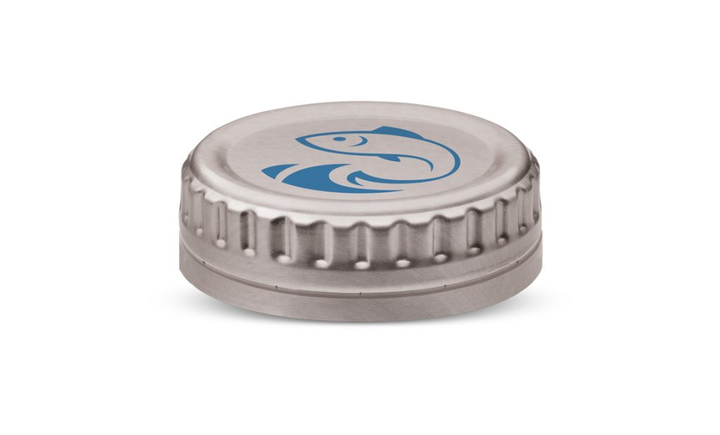 Aluminium screw closure with easy grip design - food and seafood canning