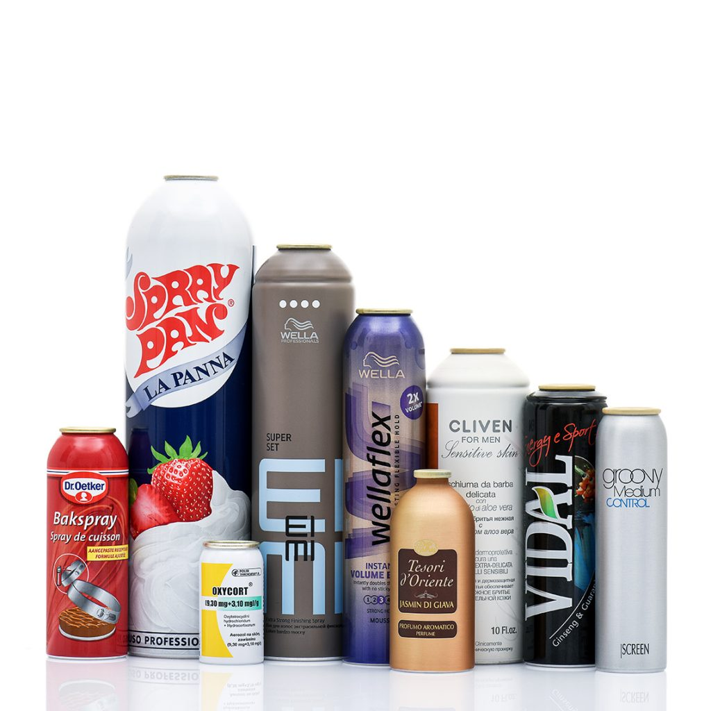 Aluminium aerosol cans and aluminium bottles - Tecnocap metal packaging