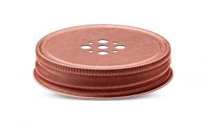 Perforated candles lids and metal closures for candles jars packaging