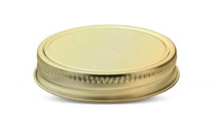 70G aluminum and tinplate closure for candles, cosmetics, mason jars