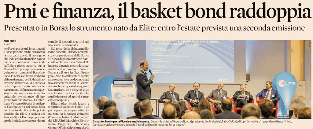 Elite borsa italiana - Tecnocap partecipa al basket bond Elite