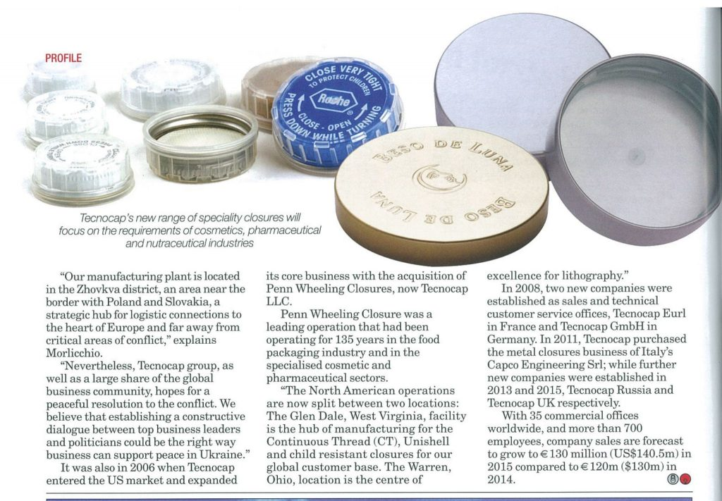 Canmaker magazine - metal closures for glass jars and plastic containers