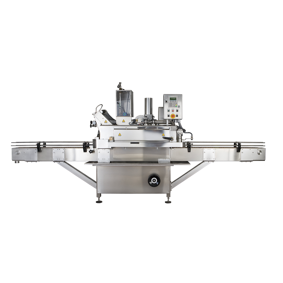 Food capping machines for food and beverage industry - Capsulatrice lineare automatica per invasettamento alimenti e bevande